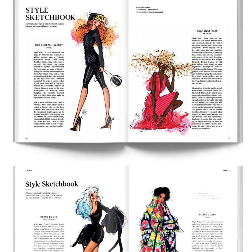 aase hopstock fashion illustration phoenix magazine
