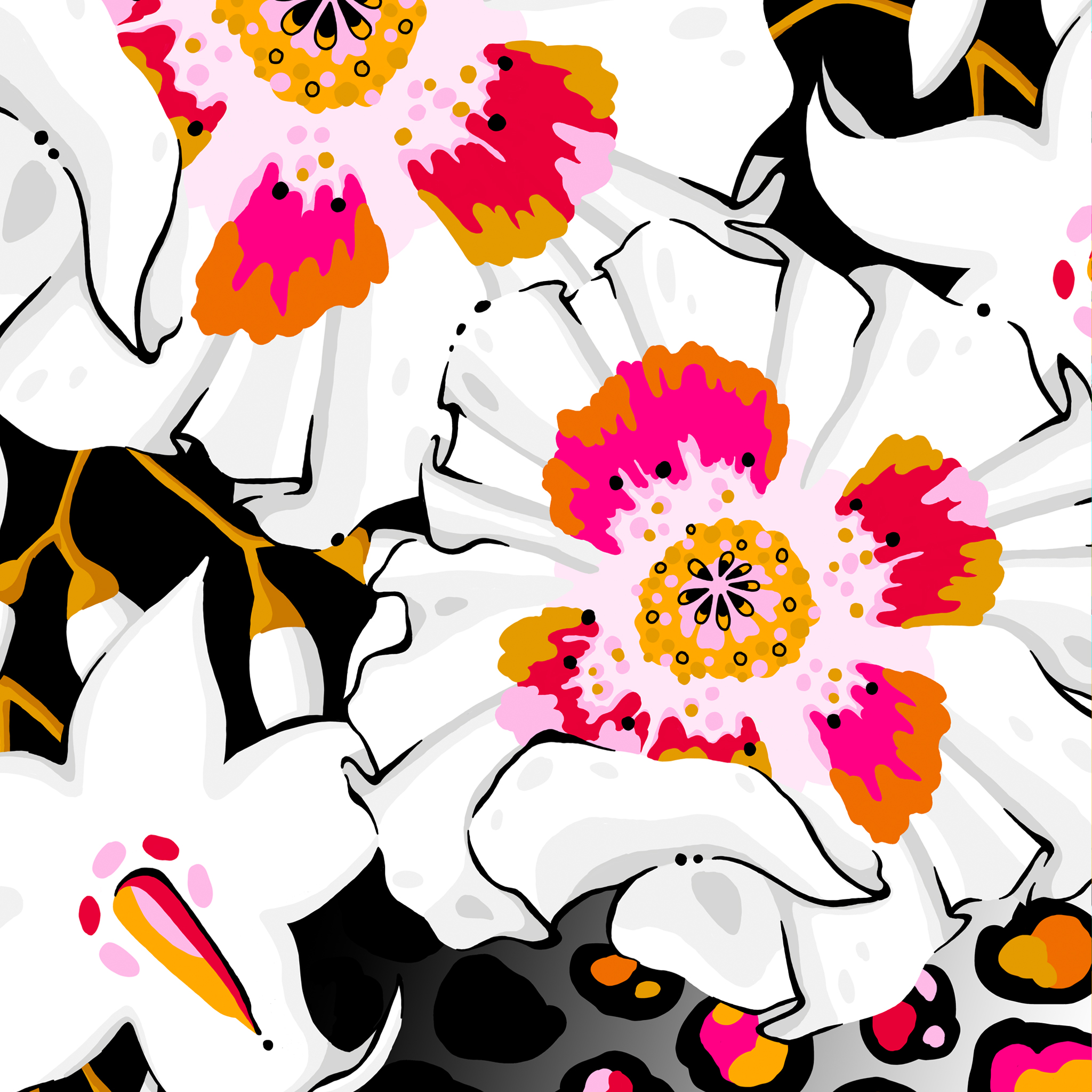 dramatic floral print aase hopstock
