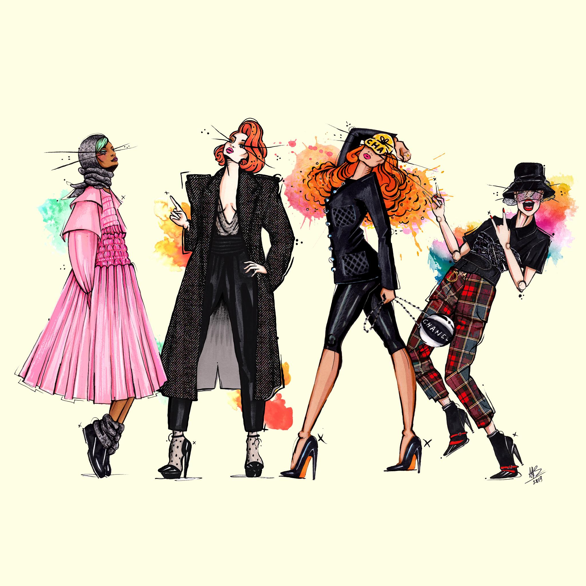aase hopstock bold vibrant fashion illustration