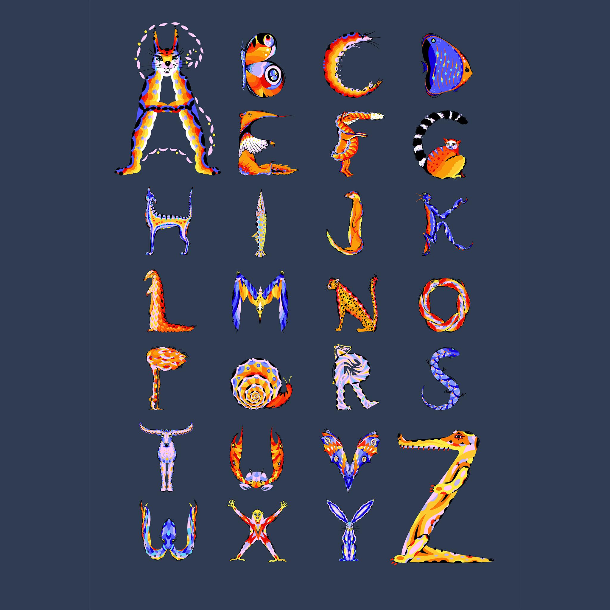 aase hopstock lettering illustrated alphabet