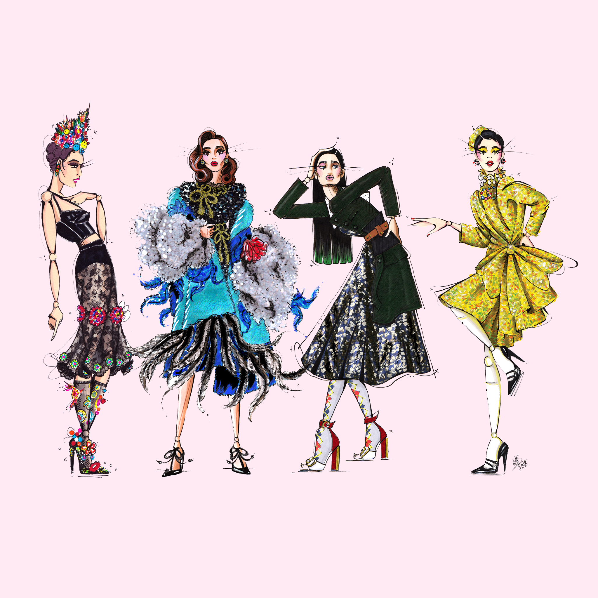 aase hopstock fashion design illustration