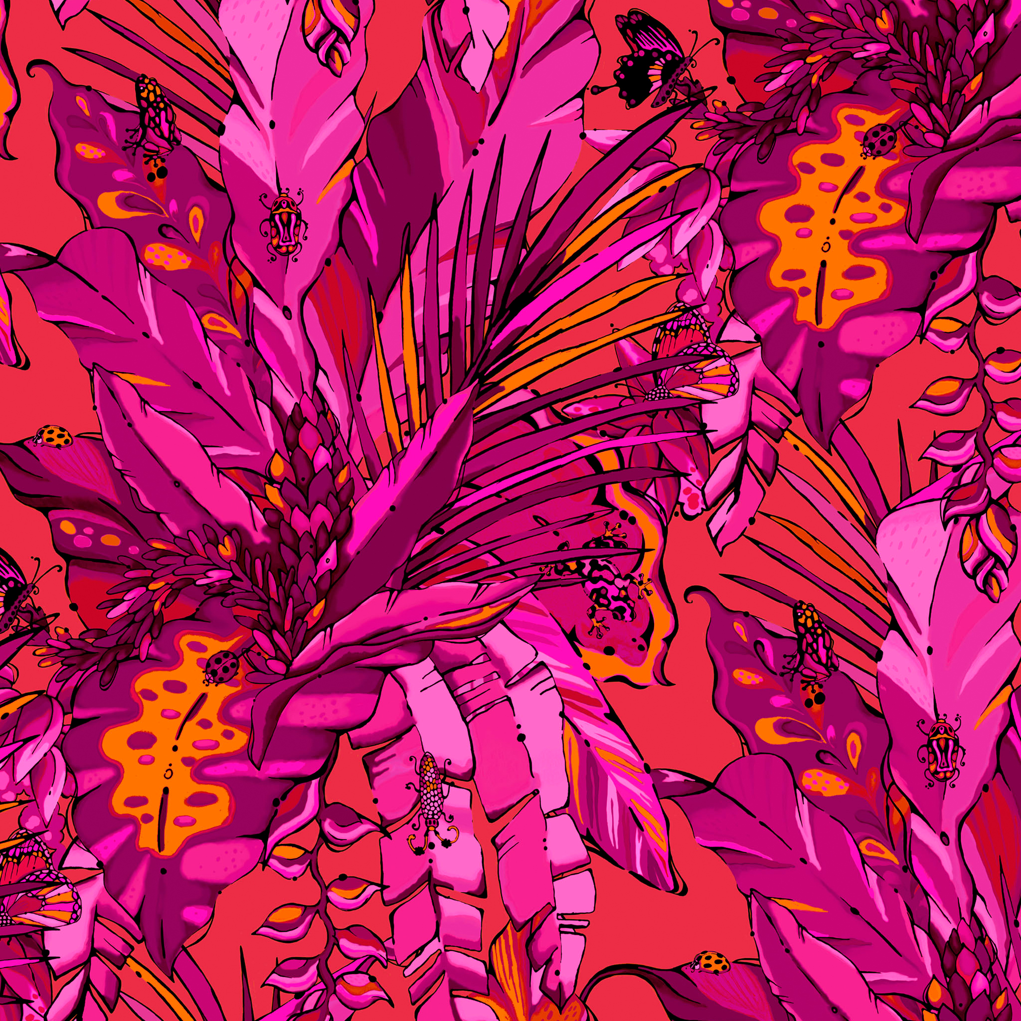 lush tropical wallpaper from aase hopstock