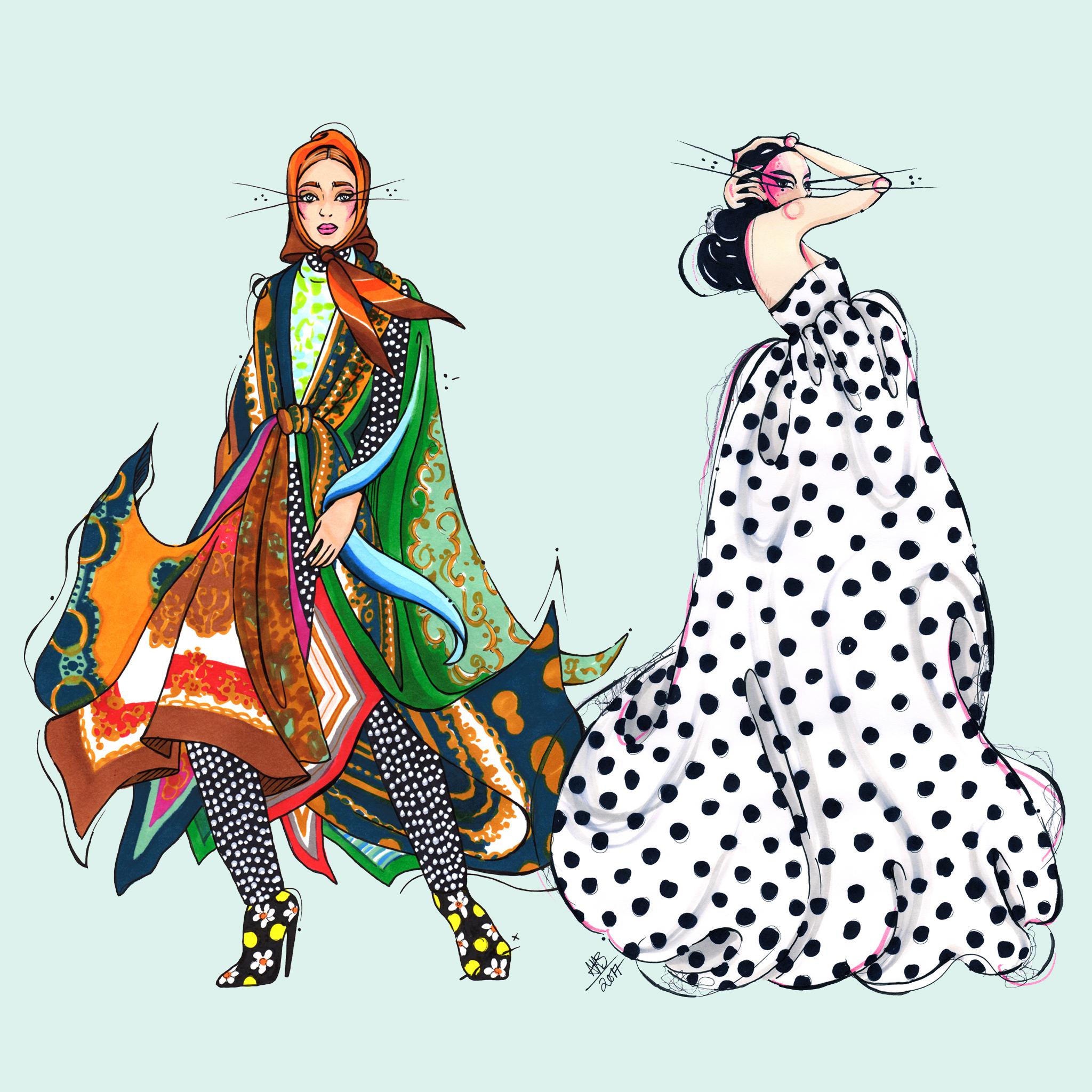 aase hopstock fashion illustration