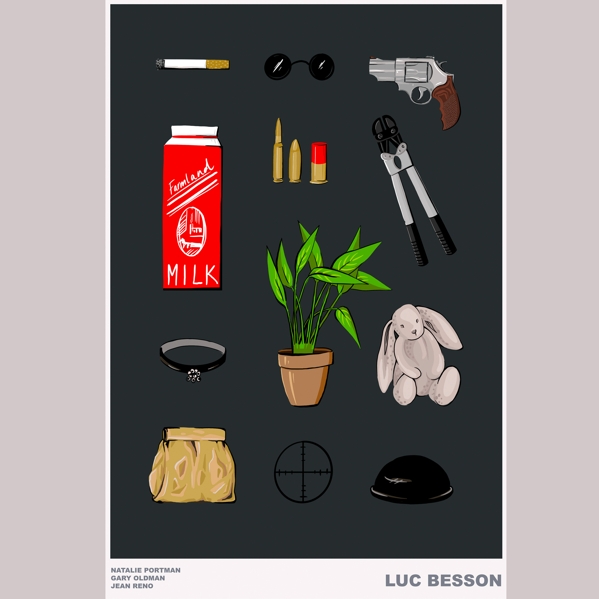 aase hopstock illustration movie poster design flatlay