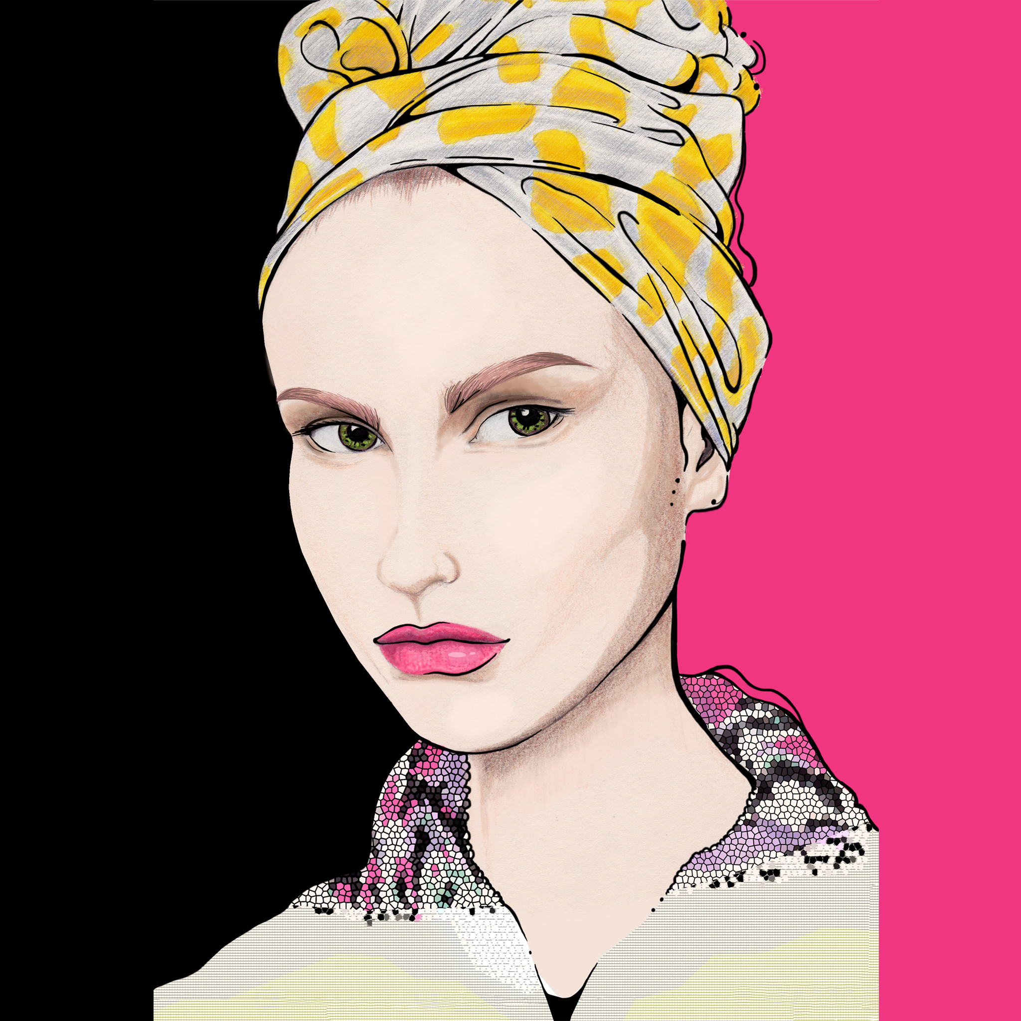 aase hopstock bold and vibrant fashion illustration