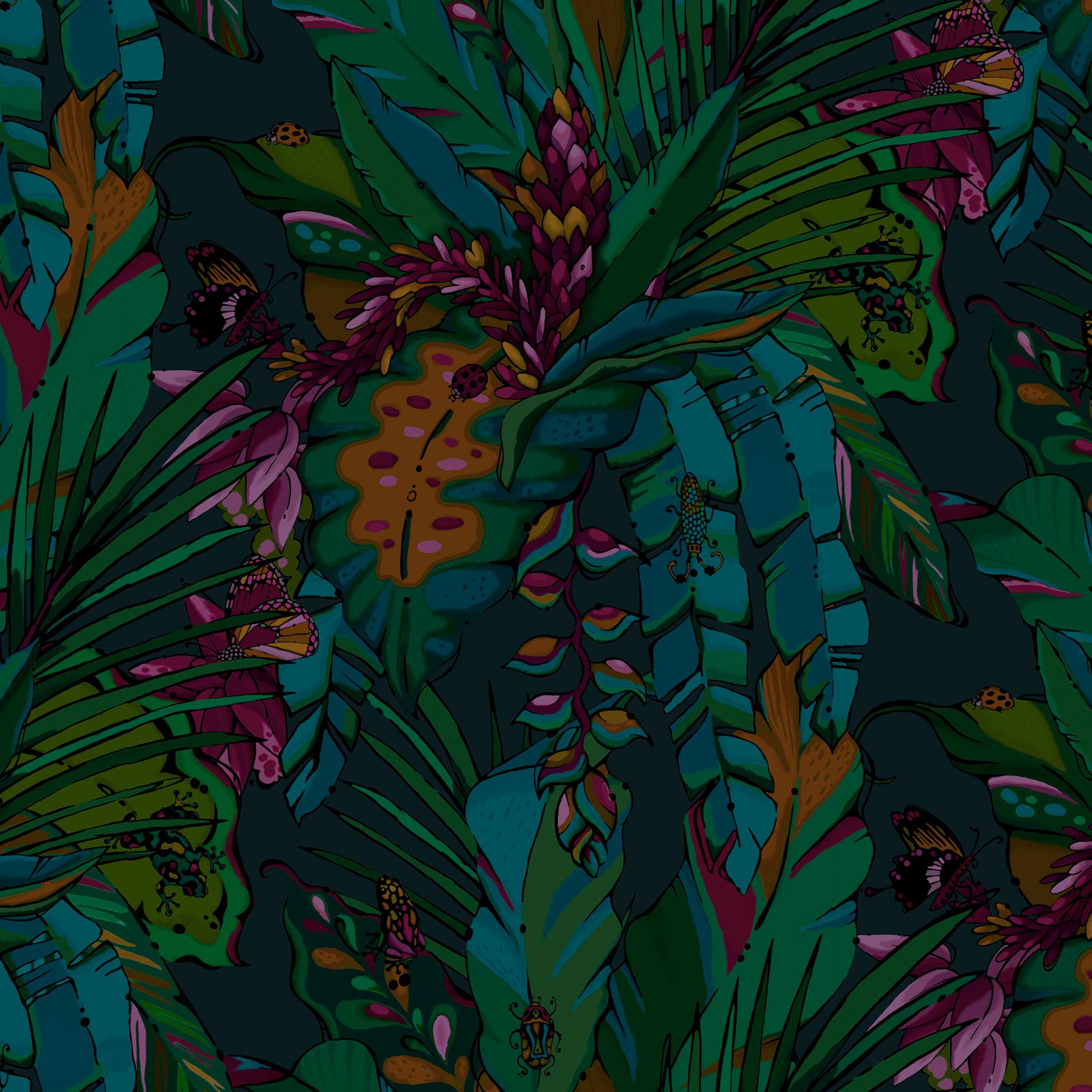 dark tropical wallpaper from aase hopstock