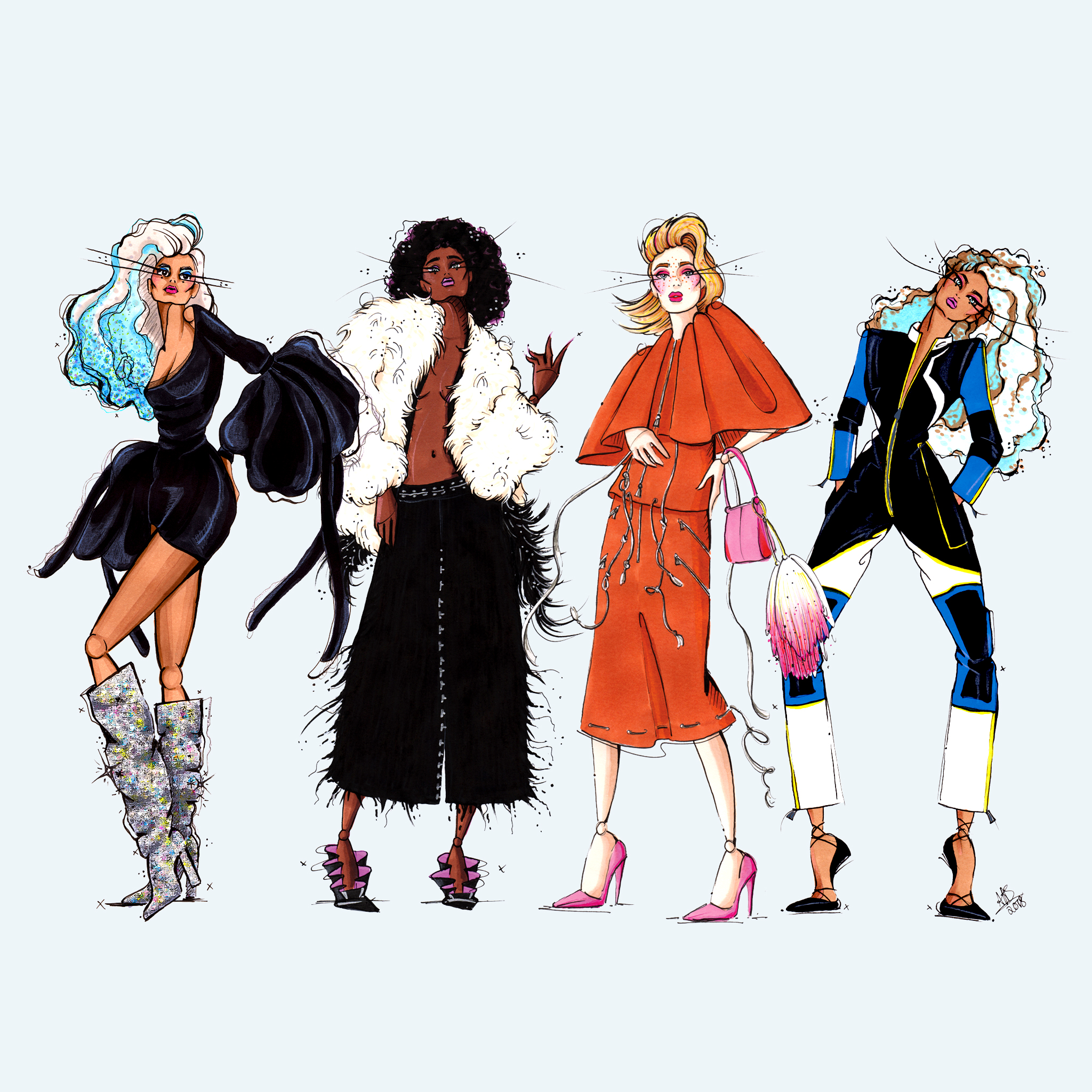 aase hopstock fashion illustration