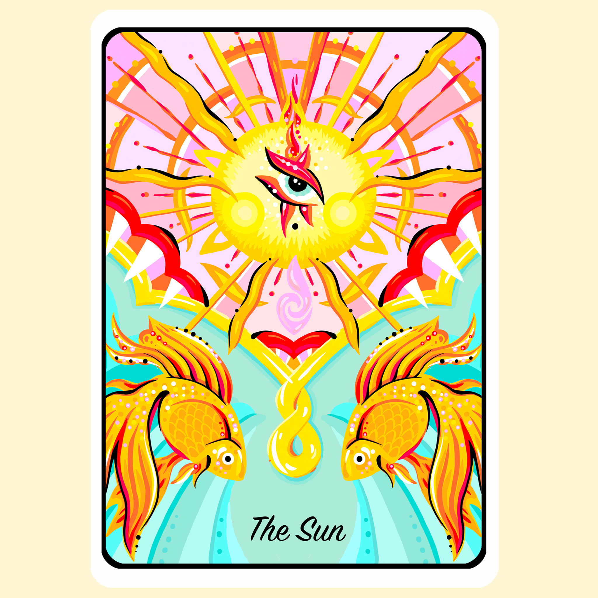 aase hopstock the sun tarot card modern illustrated